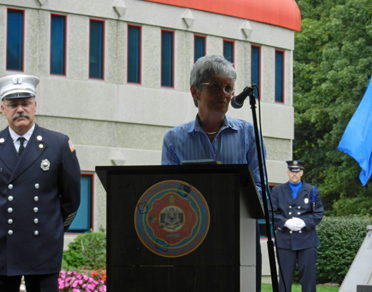 Lt. Governor Nancy Wyman speaks at the 2011 Firefighter's Memorial Service