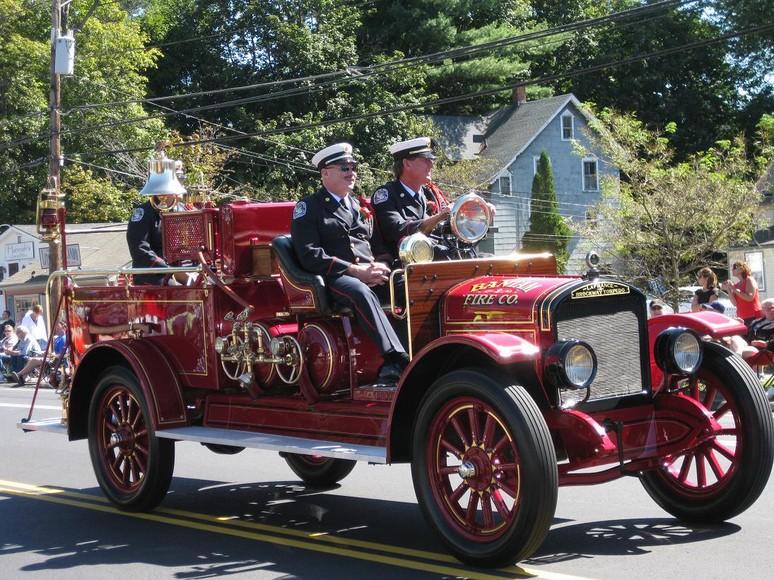 CSFA and Litchfield Fire Department FD Truck at parade