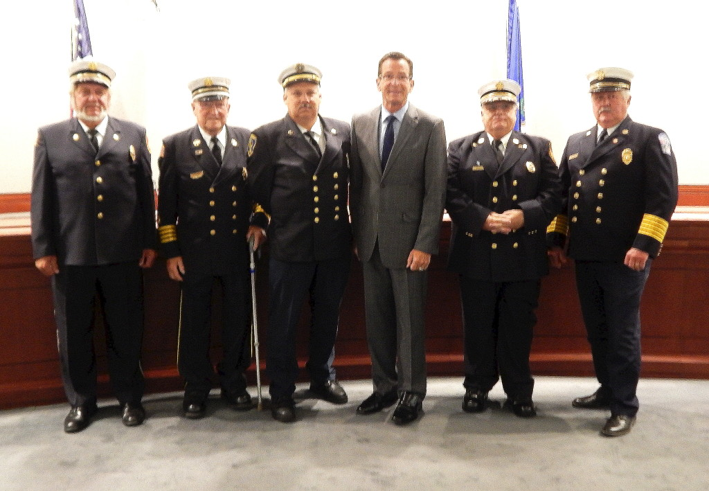 CSFA thanks Gov Dan Malloy for torrington Burrville Fire School bonding approval